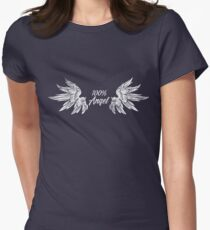 Wings 100% Angel Cool Baby Son Daughter Gifts God T Shirt Womens Fitted T-Shirt