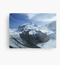 Glaciers meet .. Metal Print