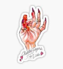 Hot Cheeto Fingers Por Vida  Sticker