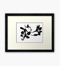 Black orchid Framed Print