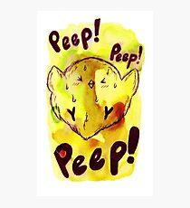Peep! Peep! Chick Watercolor Photographic Print