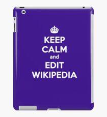 keep calm and edit wikipedia iPad Case/Skin