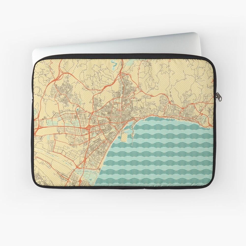Malaga Map Retro Laptop Sleeve
