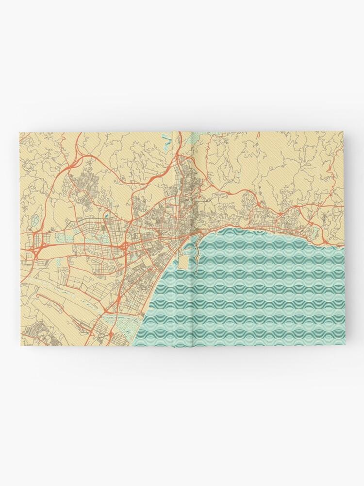 Alternate view of Malaga Map Retro Hardcover Journal