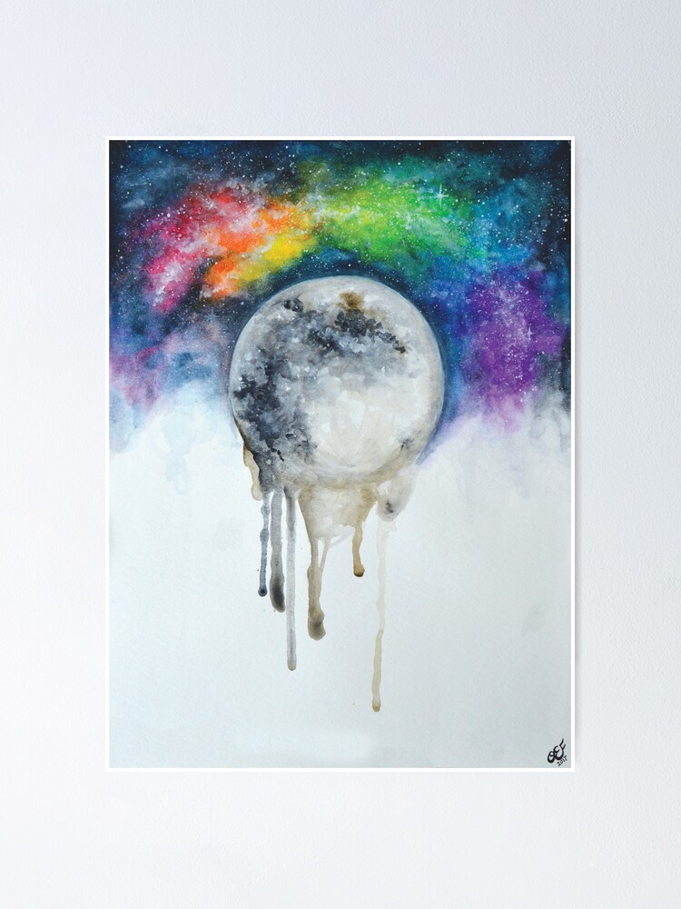 Melting Moon Painting