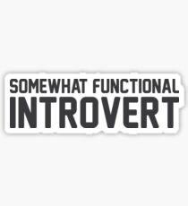 Functional Introvert Sticker