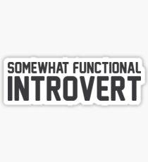 Functional Introvert Sticker