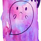 Spooky Purple Watercolor Ghost by SaradaBoru