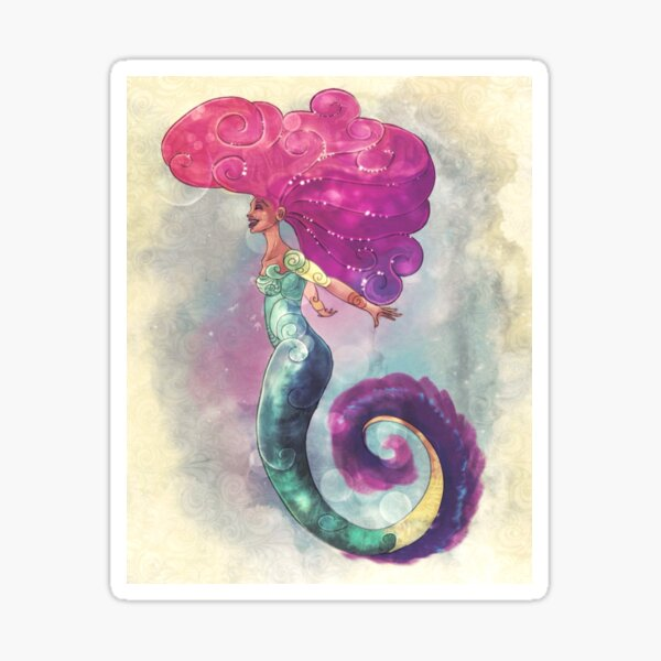 Evelyn Mermaid Sticker
