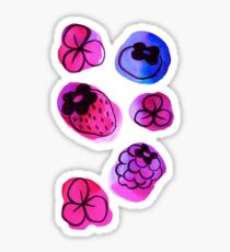 Berries and Flowers Watercolor  Sticker