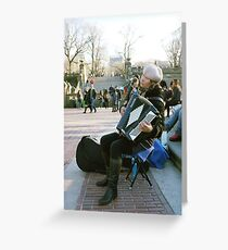 Central Park Player  Greeting Card