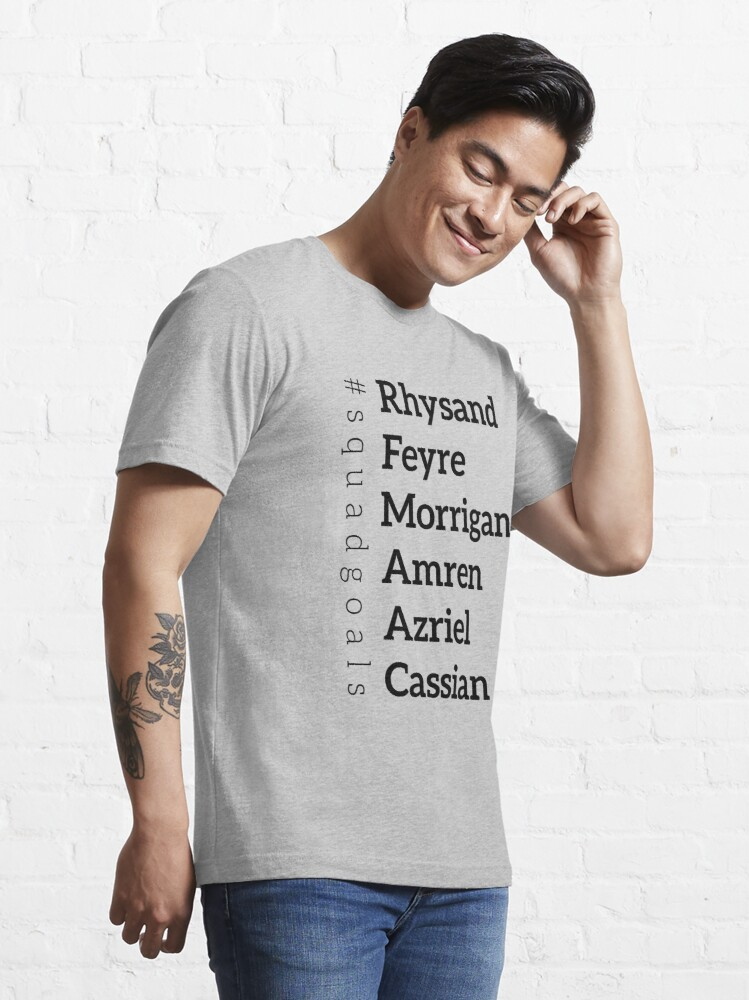Alternate view of ACOMAF Squad goals list Essential T-Shirt