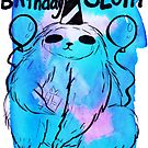 The Birthday Sloth Watercolor by SaradaBoru