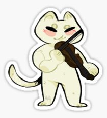 Violin Cat  Sticker