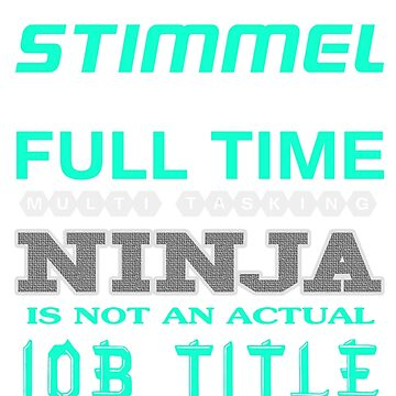 STIMMEL - JOB TITLE SHIRT AND HOODIE by Emmastone