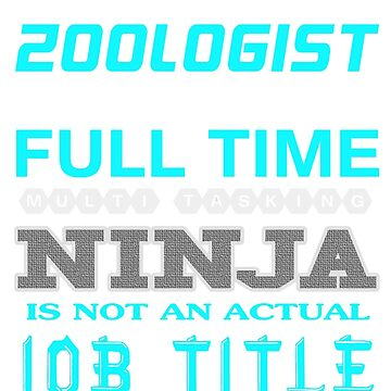 ZOOLOGIST - JOB TITLE SHIRT AND HOODIE by Emmastone