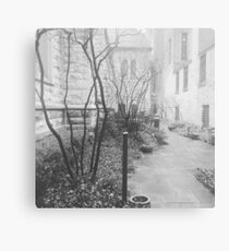 Creepy Courtyard Metal Print