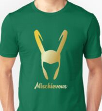 "Loki ""Mischievous"" God of Mischief  Unisex T-Shirt"