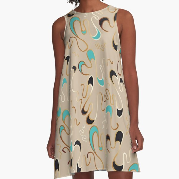 Lucky Squiggles – a Touch of Tiffany A-Line Dress