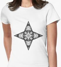 Star Abstract Design Womens Fitted T-Shirt