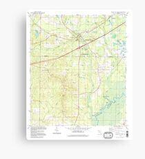 USGS TOPO Map Florida FL Ponce De Leon 348160 1994 24000 Canvas Print