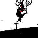 Daring Back-Flip - Freestyle BMX Biker by NaturePrints
