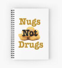 nugs not drugs Spiral Notebook