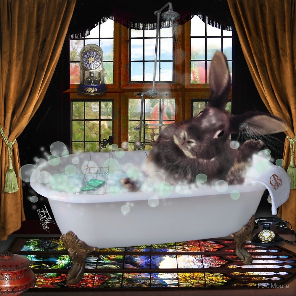 Quot Bunny Bubble Bath Quot By F A Moore Redbubble