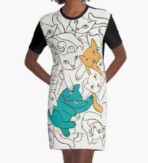 Twice the Fun Graphic T-Shirt Dress