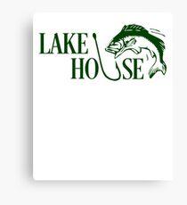 Lake House Fishing Canvas Print
