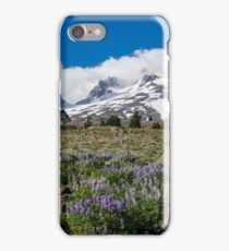 Mt Hood and lupines from Pacific Crest Trail iPhone Case/Skin