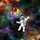 Astronaut with Balloons by FrankieCat