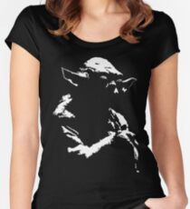 Star Wars Yoda Minimal Women's Fitted Scoop T-Shirt