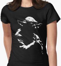 Star Wars Yoda Minimal Womens Fitted T-Shirt