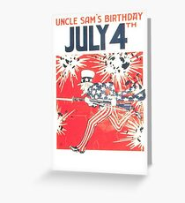 Uncle Sam's Birthday 4th July Greeting Card