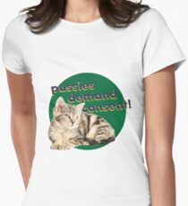 Pussies Demand Consent Women's Fitted T-Shirt