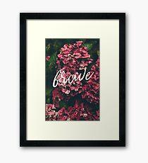 Brave Floral Art Framed Print