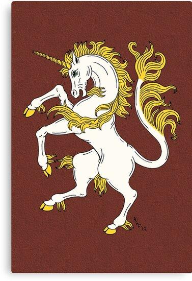Unicorn Rampant by Richard Fay