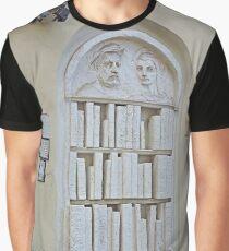 Bookshop Sculpture Graphic T-Shirt