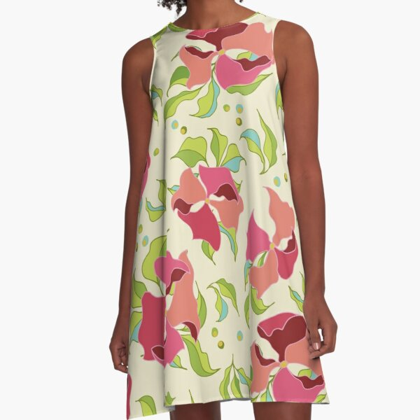 Power Flowers – Spring A-Line Dress