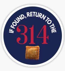 If Found, Return to the 314 - Round, Blue Sticker