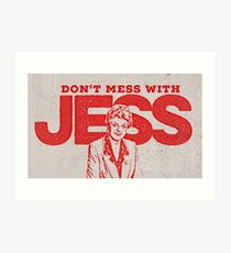 Murder, She Wrote: Don't Mess With Jess  Art Print