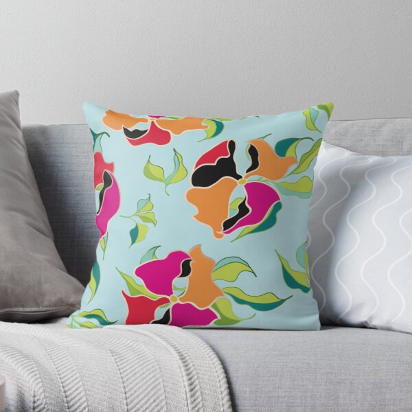 Power Flowers – Summer Throw Pillow