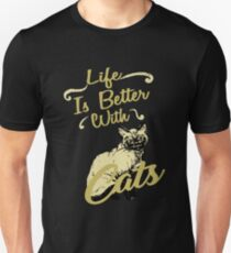 Life Is Better With Cats Shirt Unisex T-Shirt