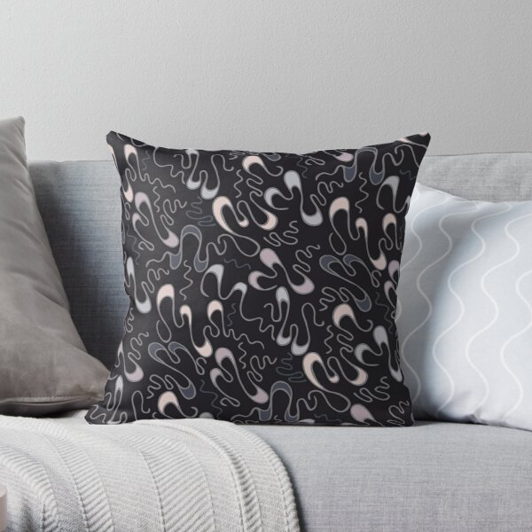 Lucky Squiggles – in elegant mood Throw Pillow