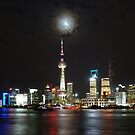 Pudong By Night by David Thompson