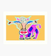 cosmic cow  Art Print