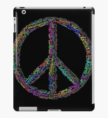 PEACE in all Languages iPad Case/Skin