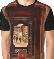 Looking Through: Bhaktapur, Nepal Graphic T-Shirt