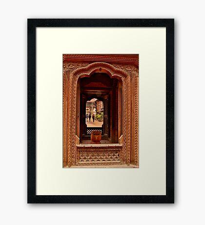 Looking Through: Bhaktapur, Nepal Framed Print